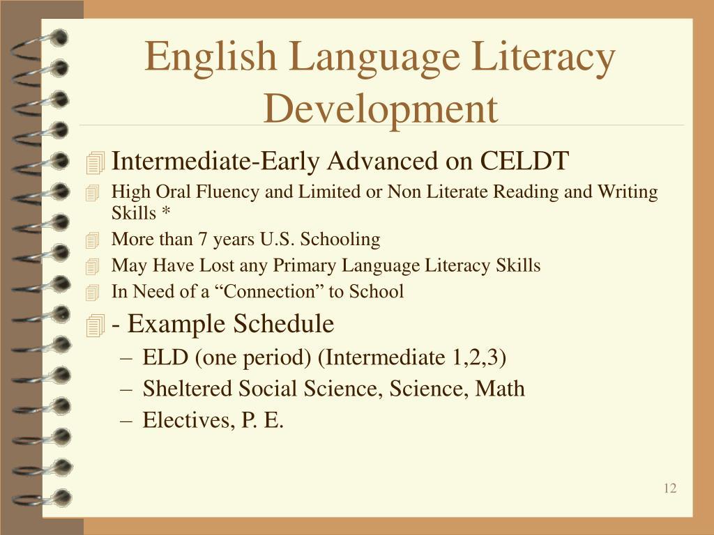English Language Literacy Development