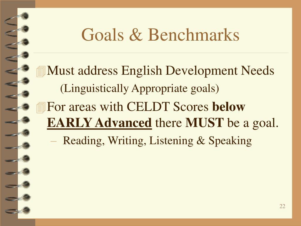 Goals & Benchmarks