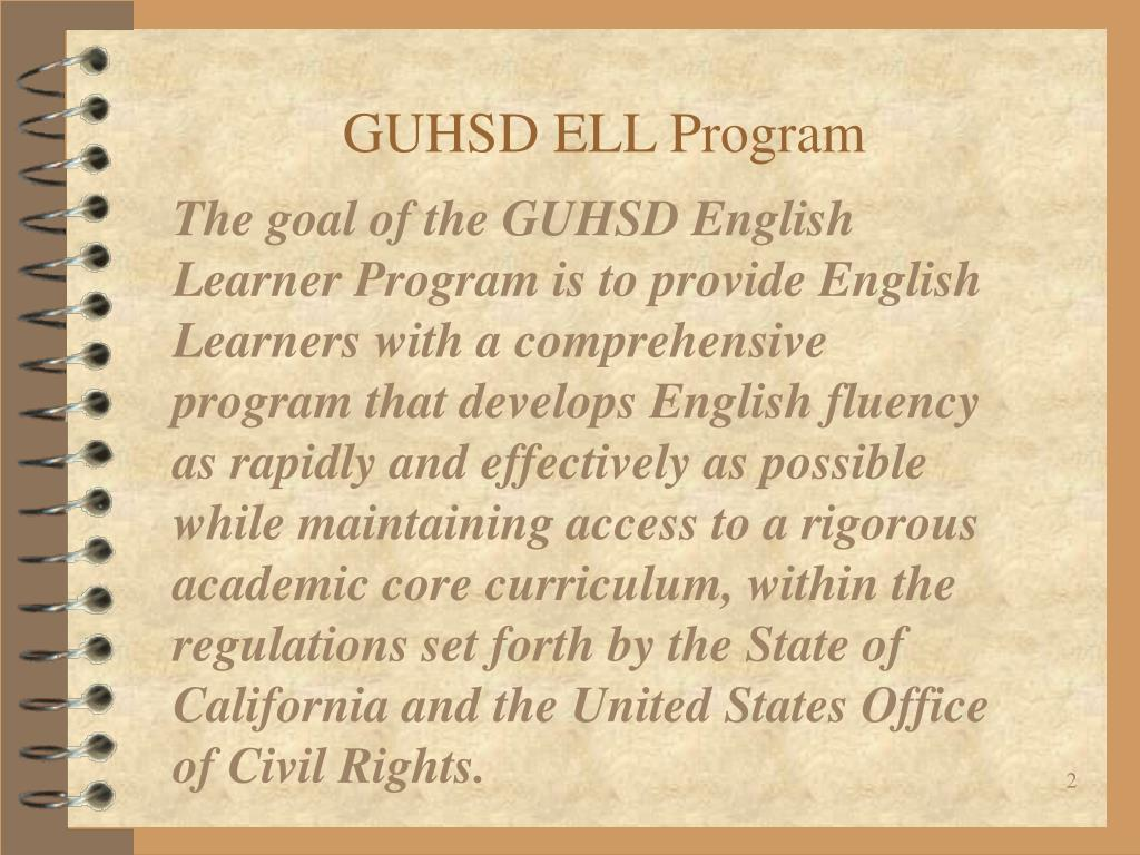 GUHSD ELL Program
