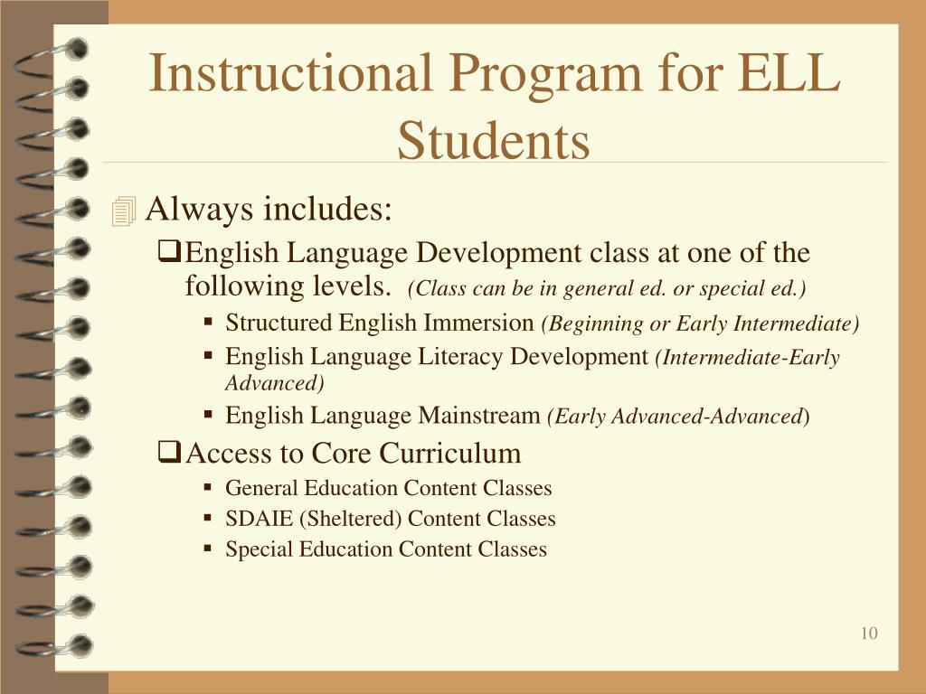 Instructional Program for ELL Students