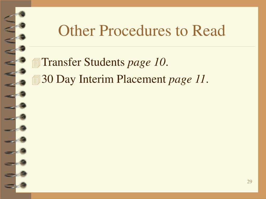 Other Procedures to Read