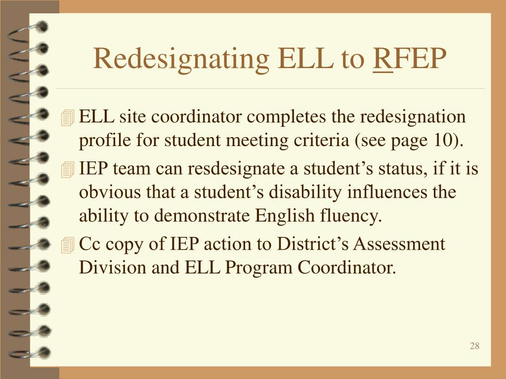Redesignating ELL to