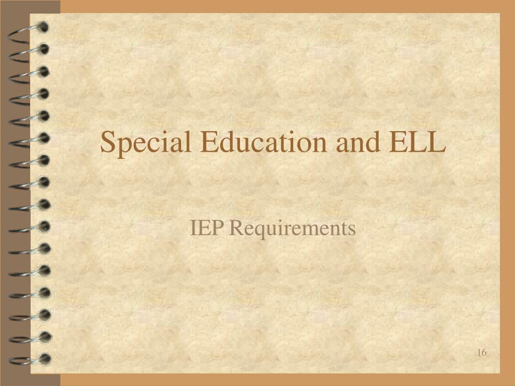 Special Education and ELL