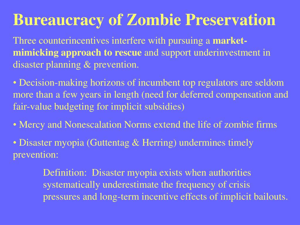 Bureaucracy of Zombie Preservation