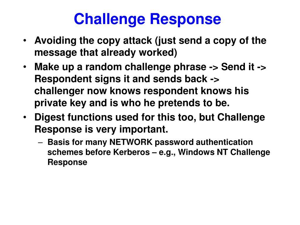 Challenge Response