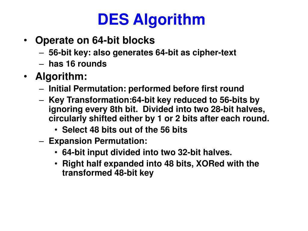 DES Algorithm
