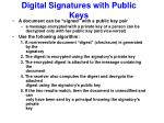 digital signatures with public keys