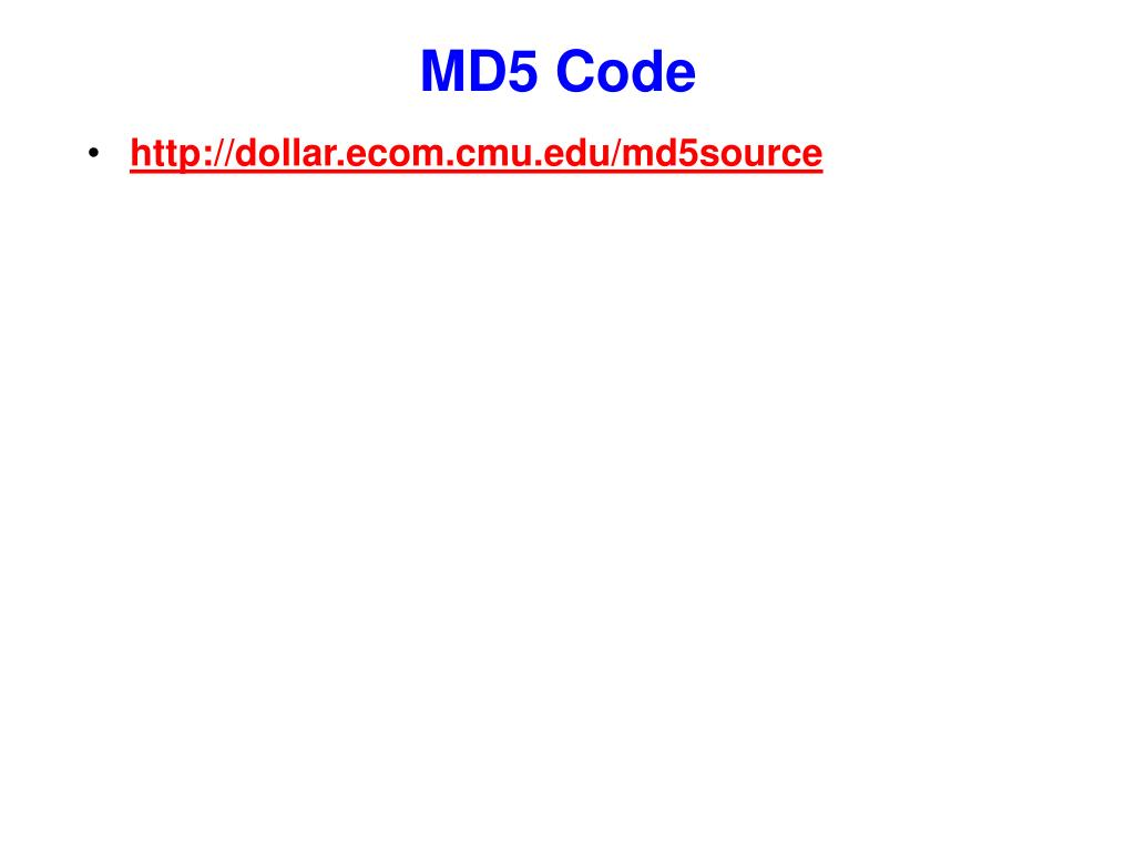 MD5 Code