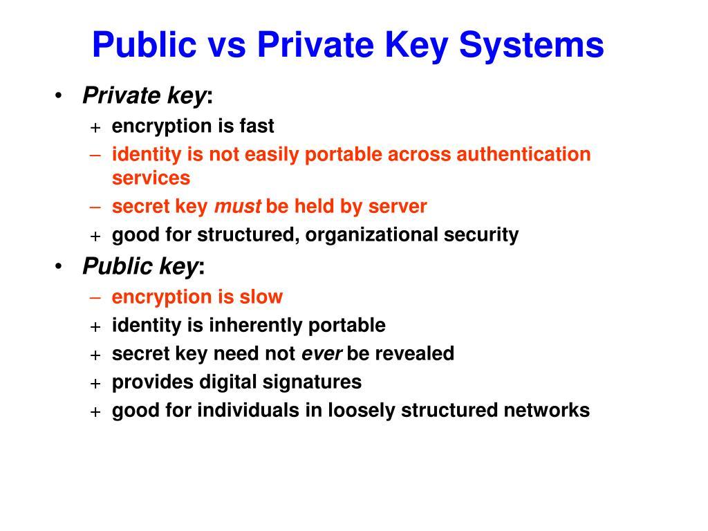Public vs Private Key Systems