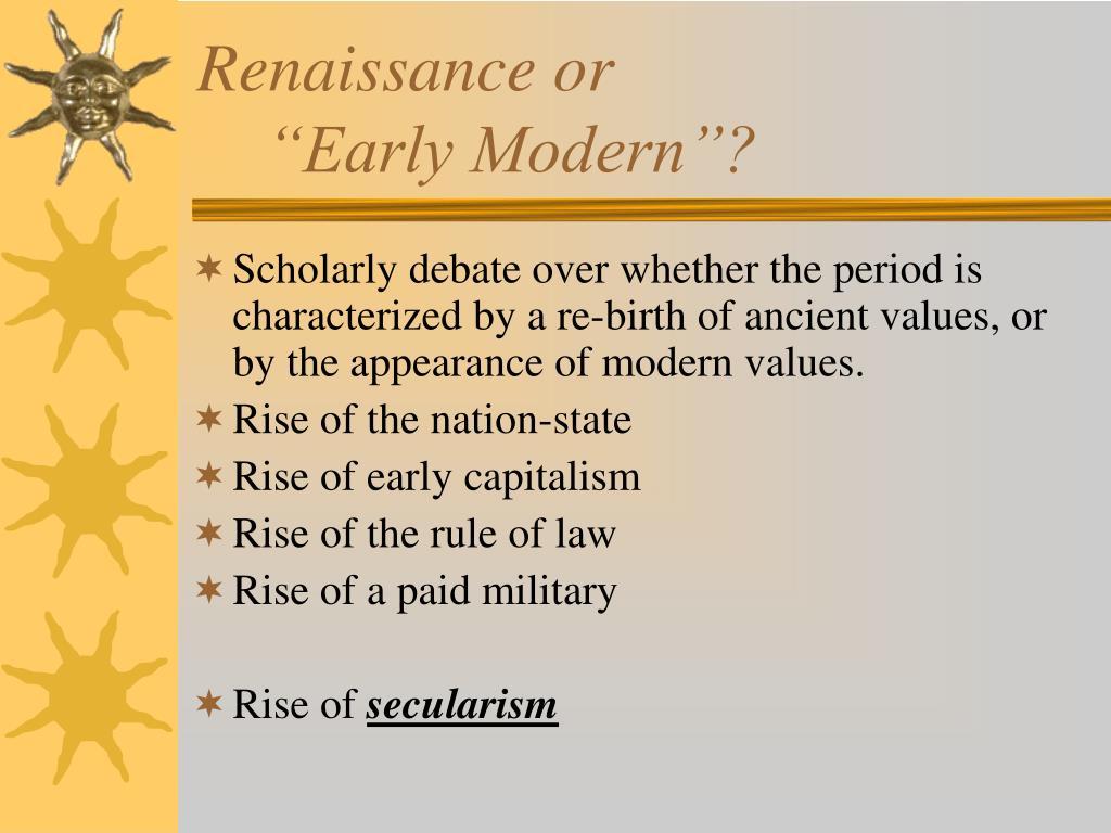 Renaissance or