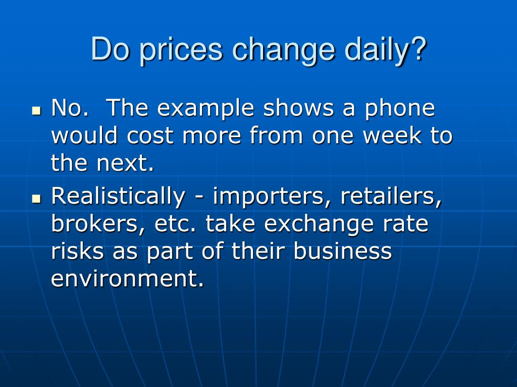 Do prices change daily?