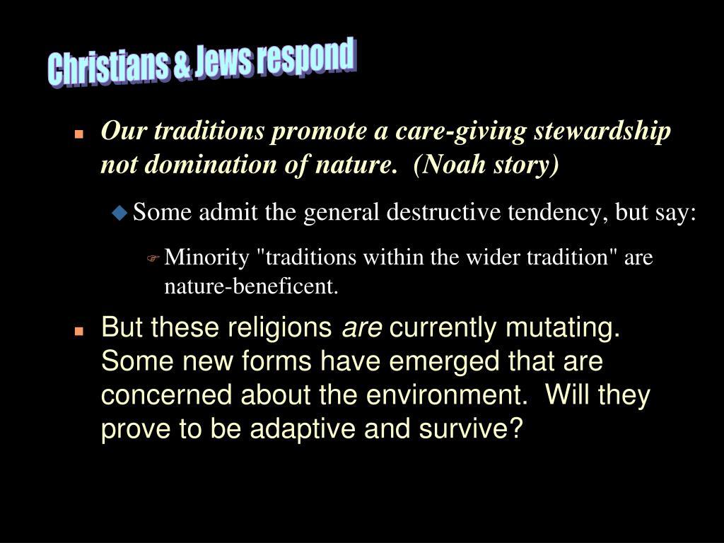 Christians & Jews respond