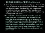 thinking like a mountain cont