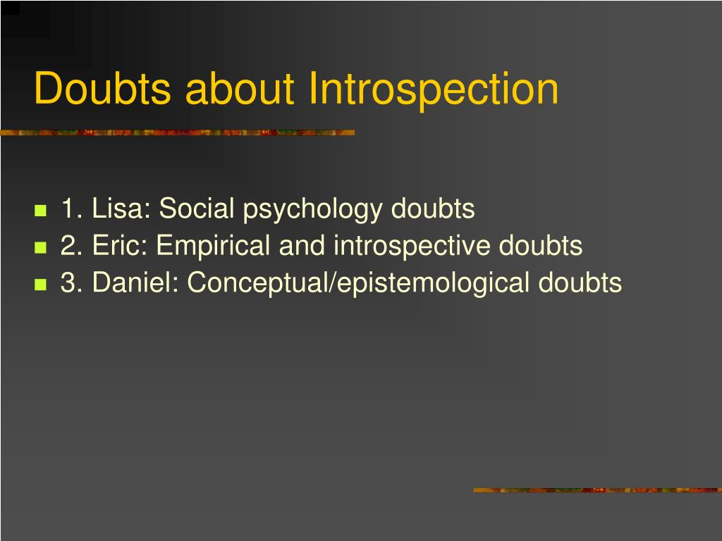 Doubts about Introspection