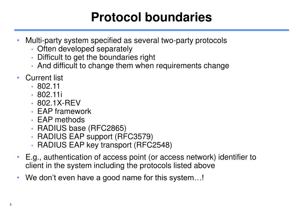 Protocol boundaries