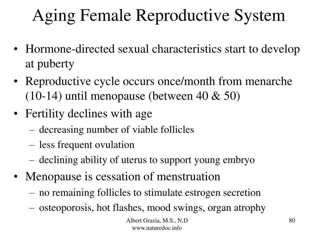 Aging Female Reproductive System