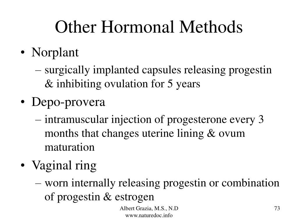 Other Hormonal Methods