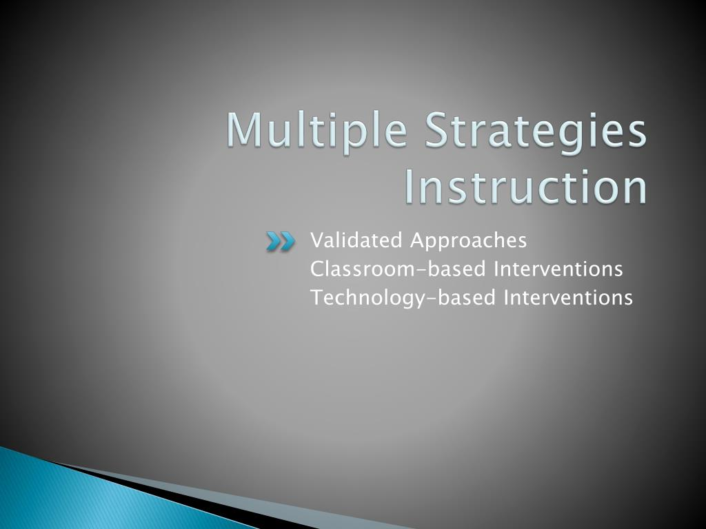 Multiple Strategies Instruction
