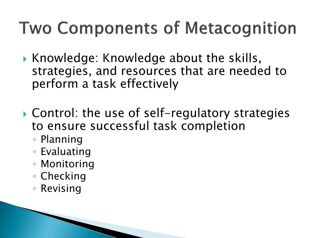 Two Components of Metacognition