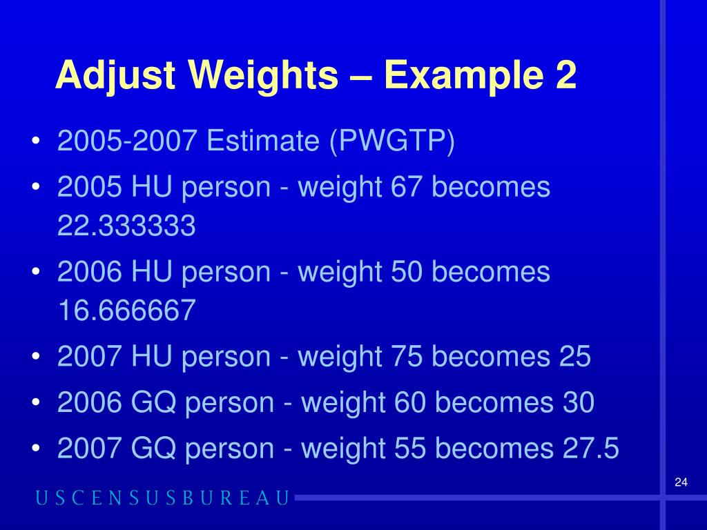 Adjust Weights – Example 2