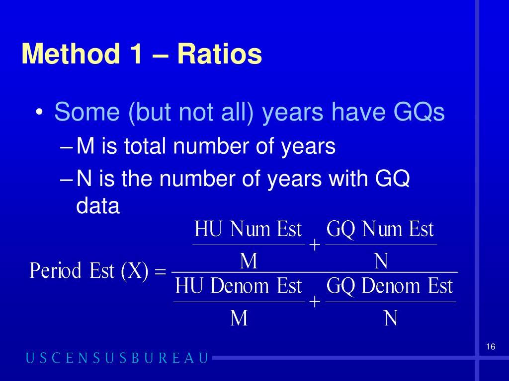 Method 1 – Ratios