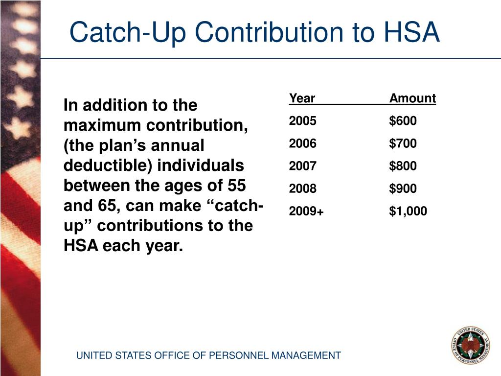 Catch-Up Contribution to HSA