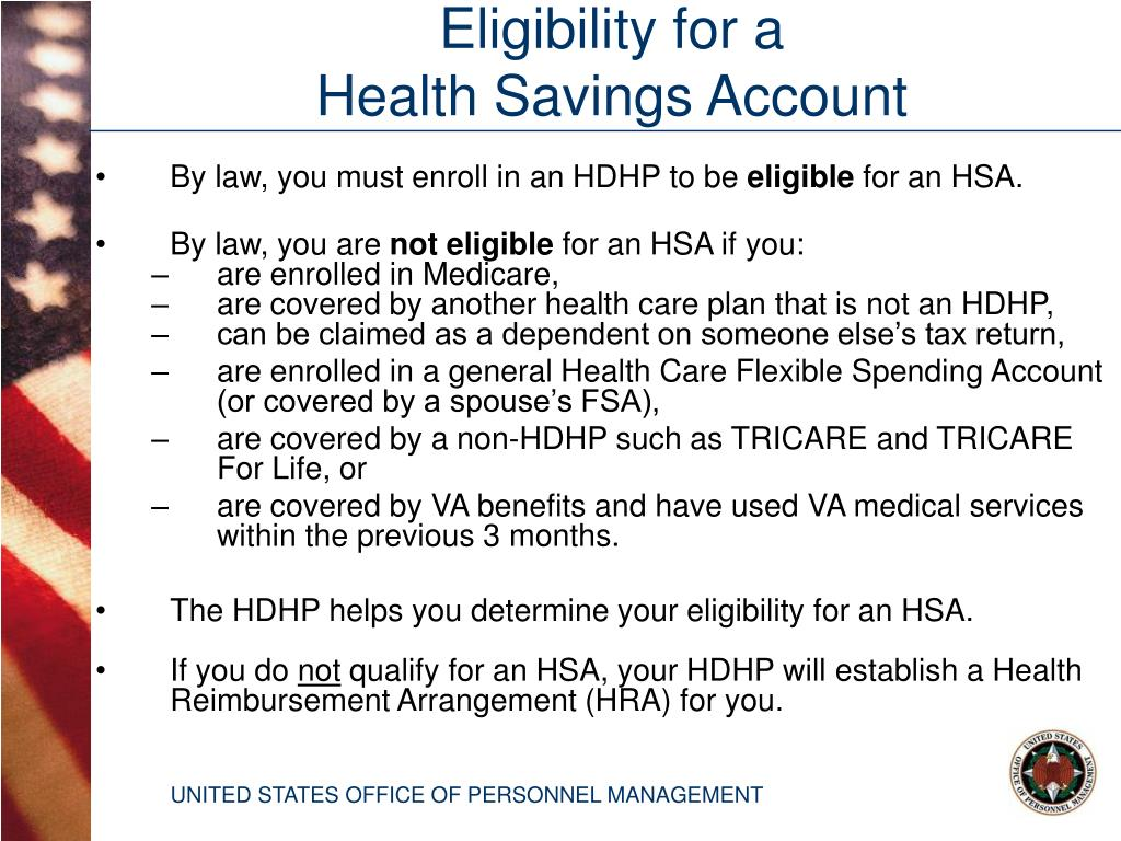 By law, you must enroll in an HDHP to be