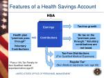features of a health savings account