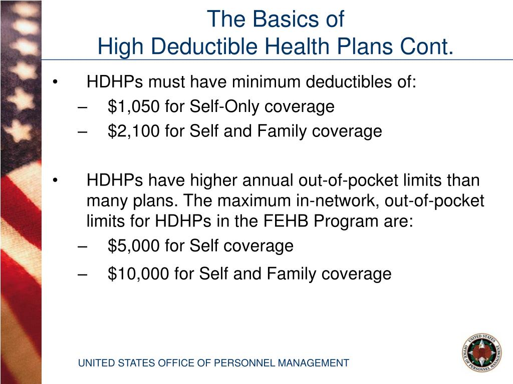 HDHPs must have minimum deductibles of: