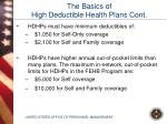 the basics of high deductible health plans cont6