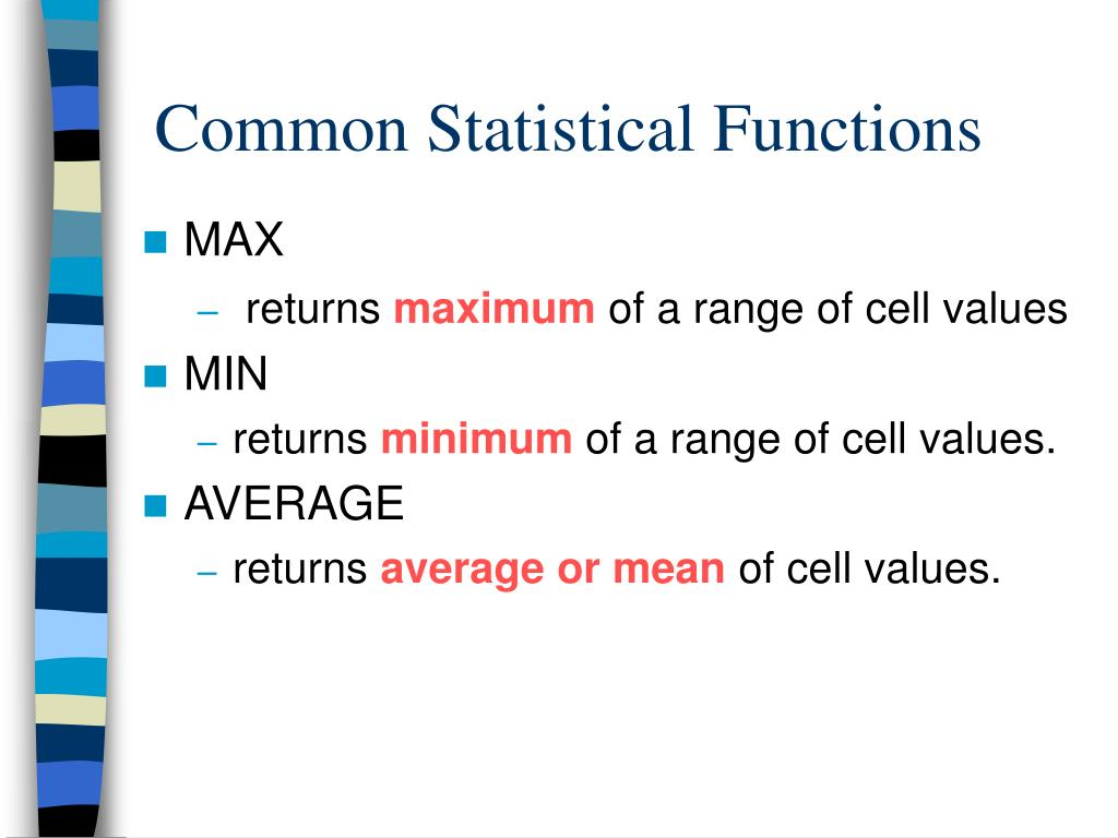 Common Statistical Functions