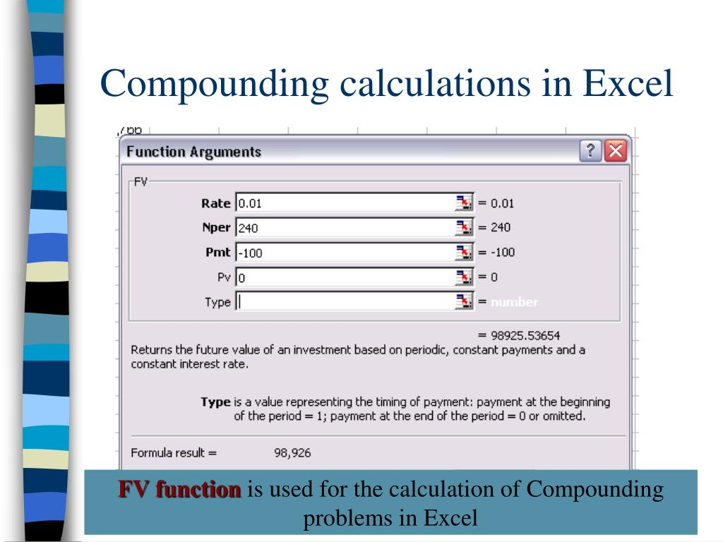 Compounding calculations in Excel