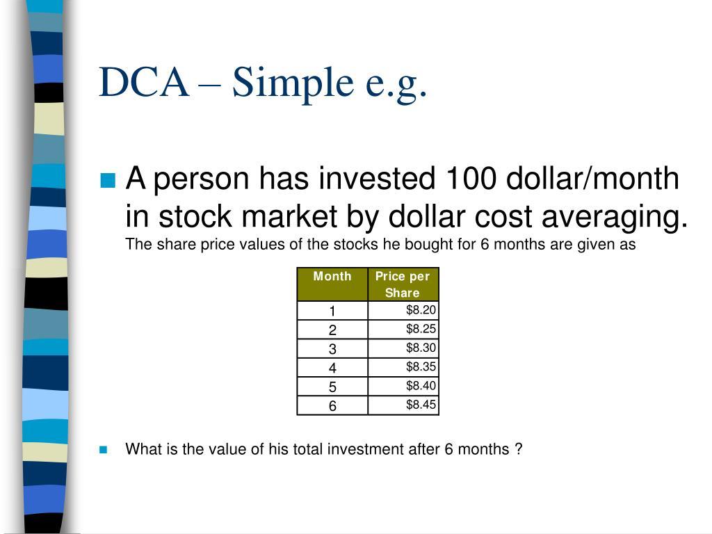 DCA – Simple e.g.