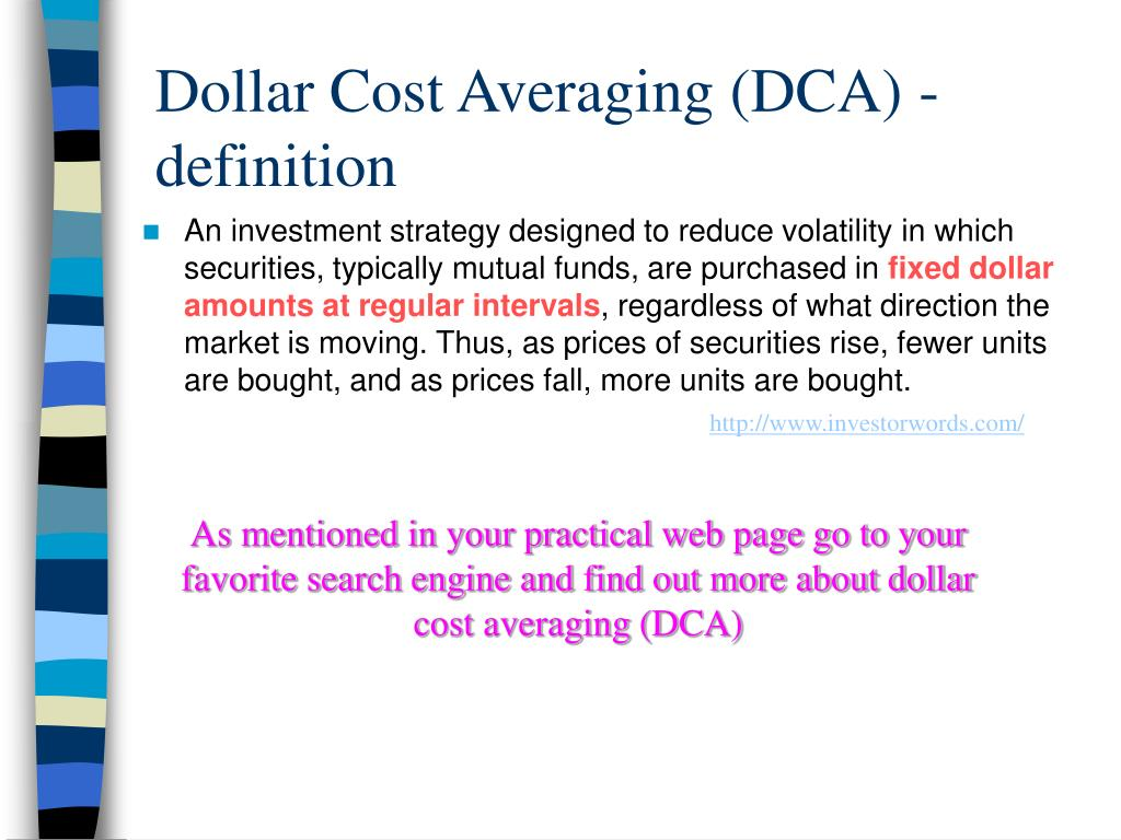 Dollar Cost Averaging (DCA) -definition