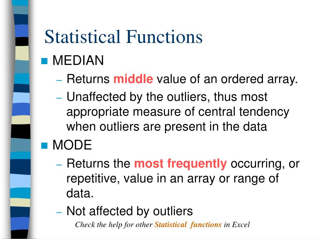 Statistical Functions