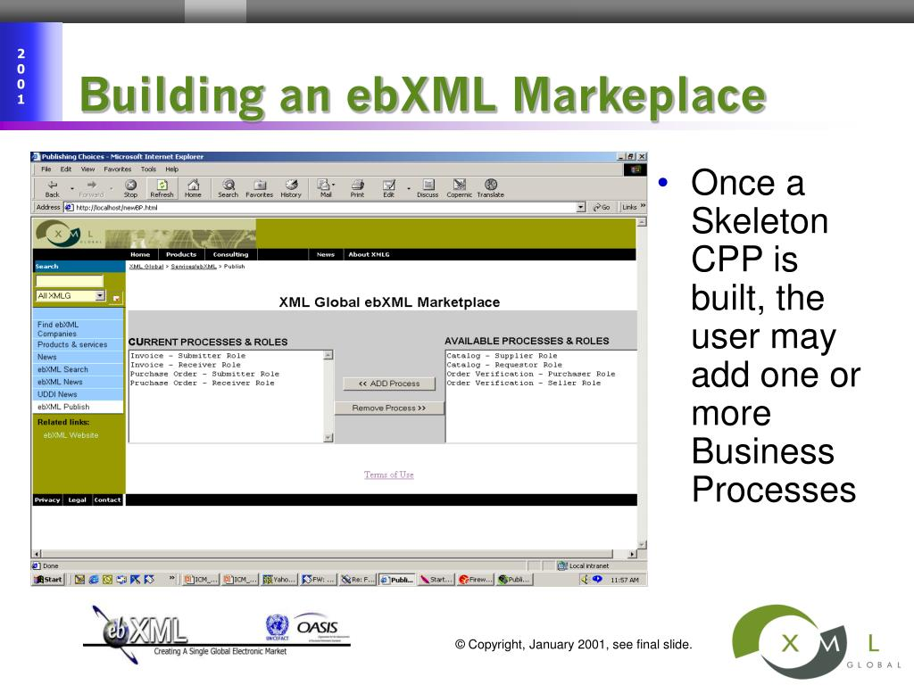 Building an ebXML Markeplace