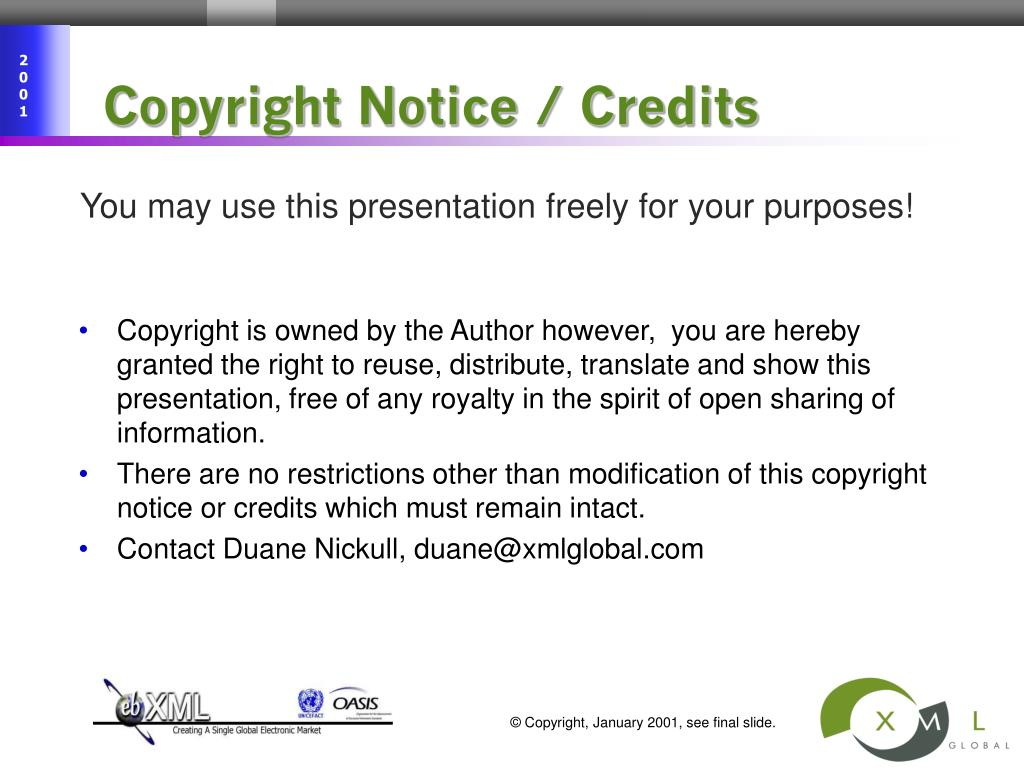Copyright Notice / Credits