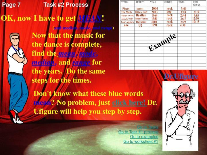 Page 7Task #2 Process