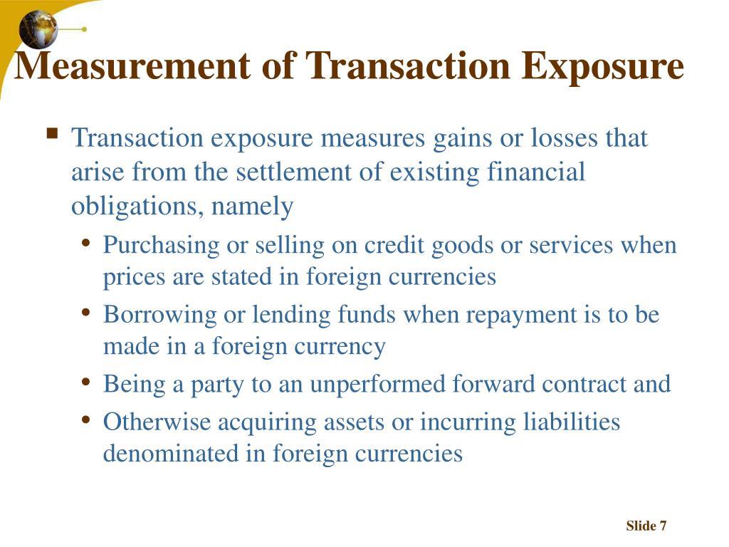 Measurement of Transaction Exposure