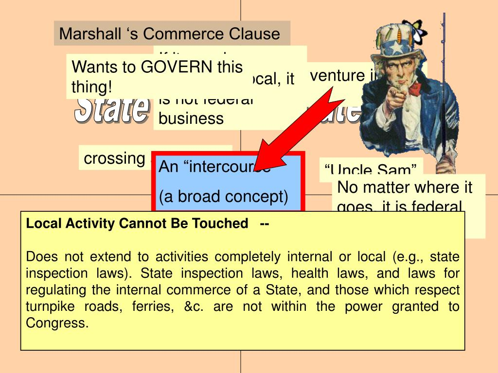 Marshall 's Commerce Clause
