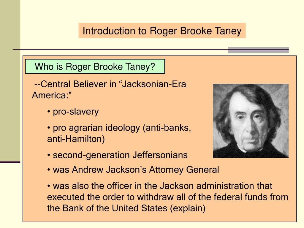 Introduction to Roger Brooke Taney