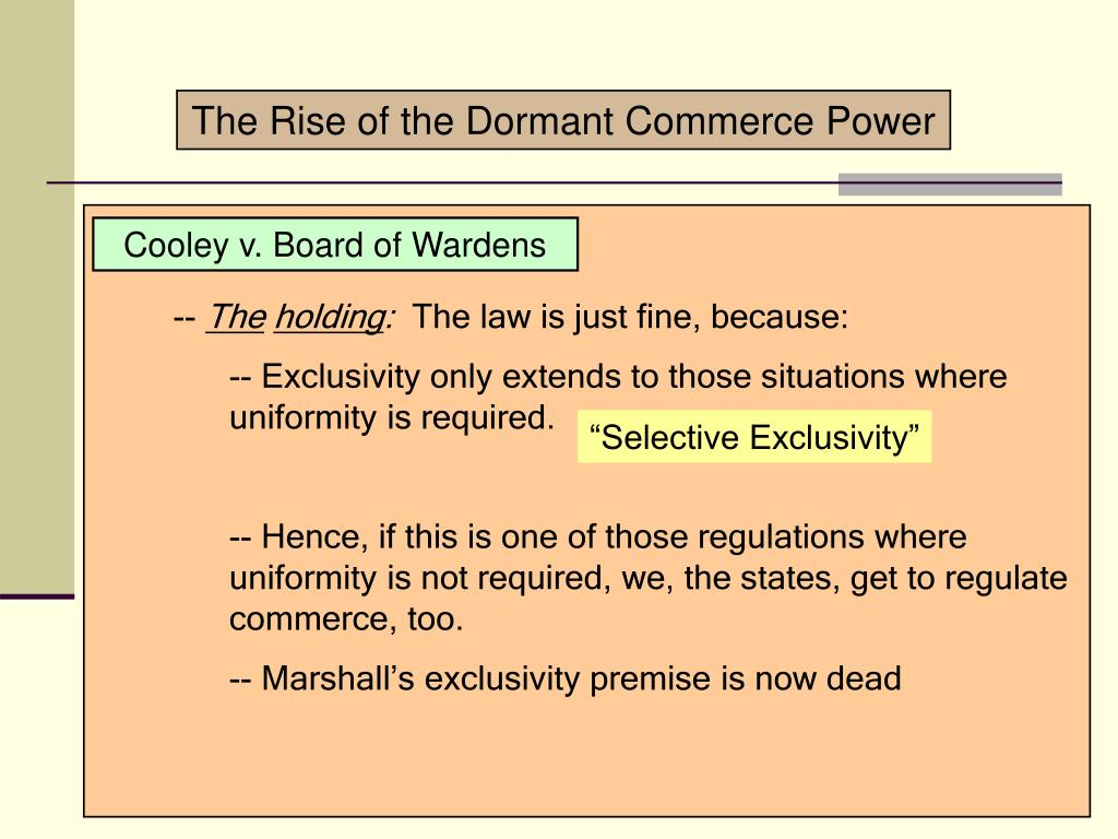 The Rise of the Dormant Commerce Power