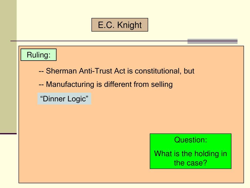 E.C. Knight