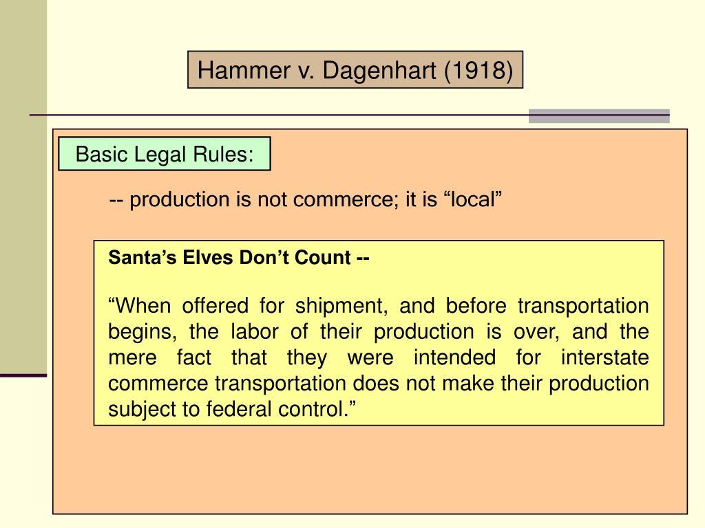 Hammer v. Dagenhart (1918)