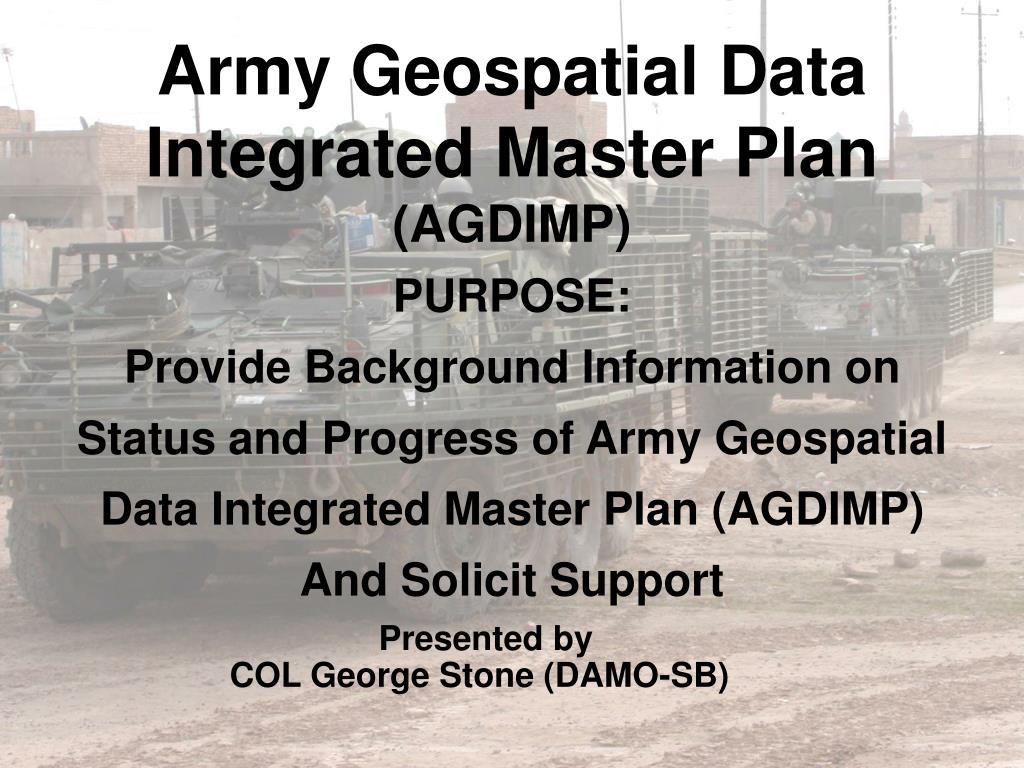 Army Geospatial Data
