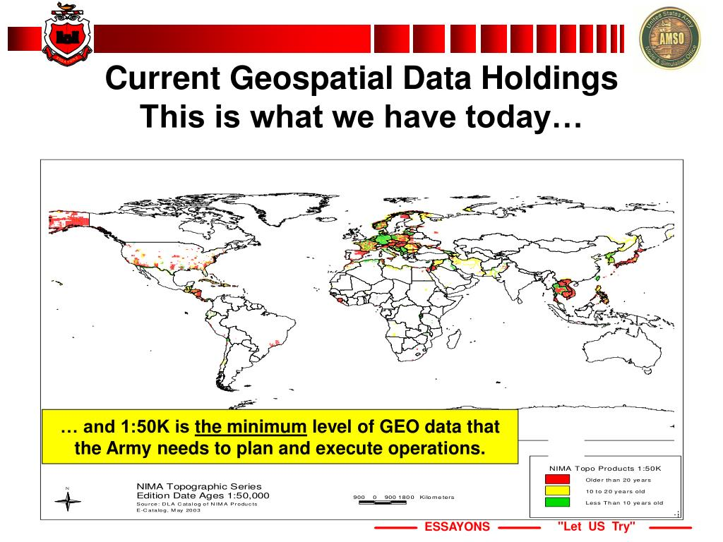 Current Geospatial Data Holdings