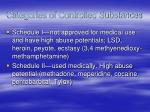 categories of controlled substances