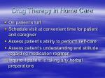 drug therapy in home care
