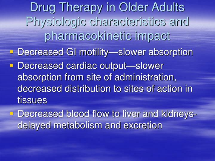 Drug Therapy in Older Adults