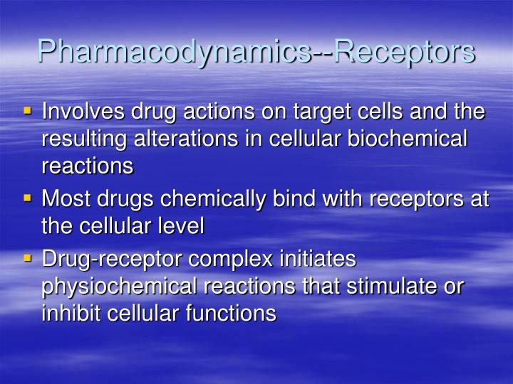 Pharmacodynamics--Receptors